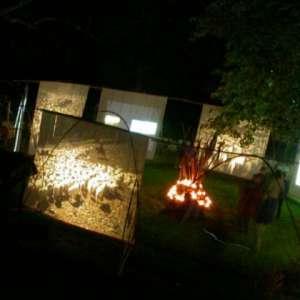 L'installation Tsagaan Yavaraï au Hameau de la Brousse